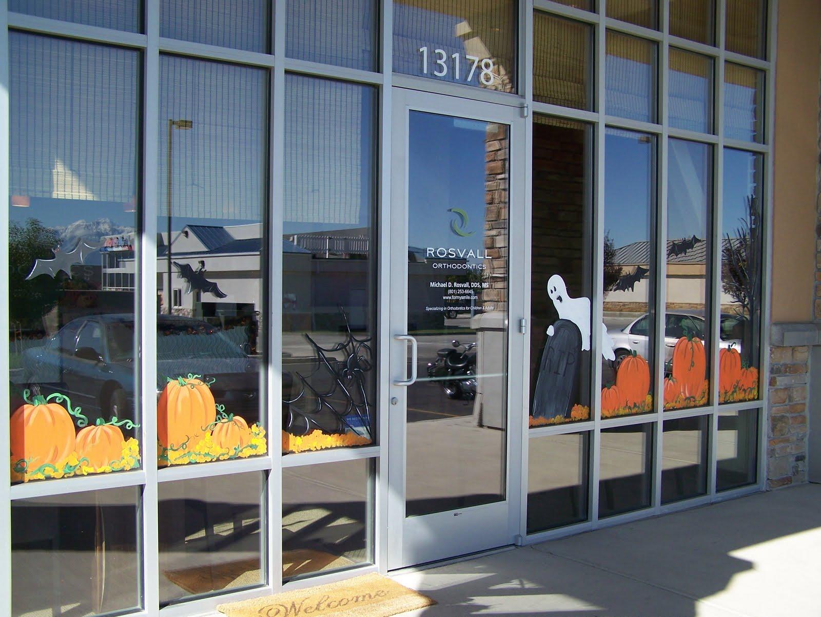 Bawden Fine Murals Window Painting Seasons Spring Summer Fall Etc