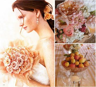 peach color, wedding decoration, Wedding Decoration In Peach Color