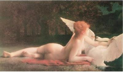 Paul Tillier - Leda e o Cisne - sec XIX