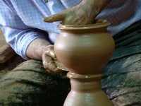 Making a jar of clay