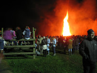 The Thorganby bonfire