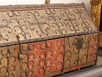 An ornate mediaeval coffin