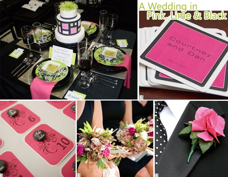 Pink And Black Wedding Ideas: Event Ideas & Inspiration: Pink