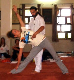 yoga assists and modifications trikonasana