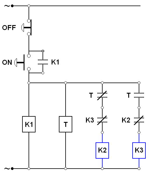 wiring diagram star delta menggunakan timer
