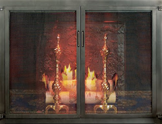 This Fireplace Door Has Clean Contemporary Lines That Will Fit Into Any Decor Cabinet Style Doors Open