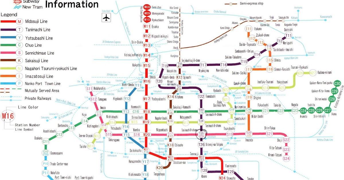 Subway Map Of Osaka.My Life My Dreams My Destiny Osaka Himeji Free And Easy Day 1