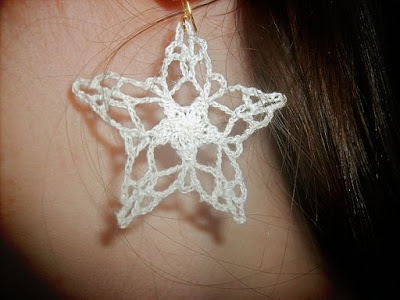 crochet star earrings