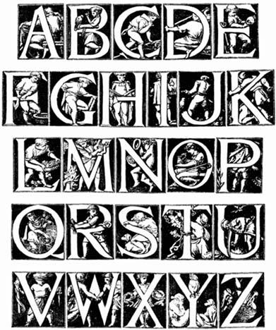 katie in fancy writing alphabet