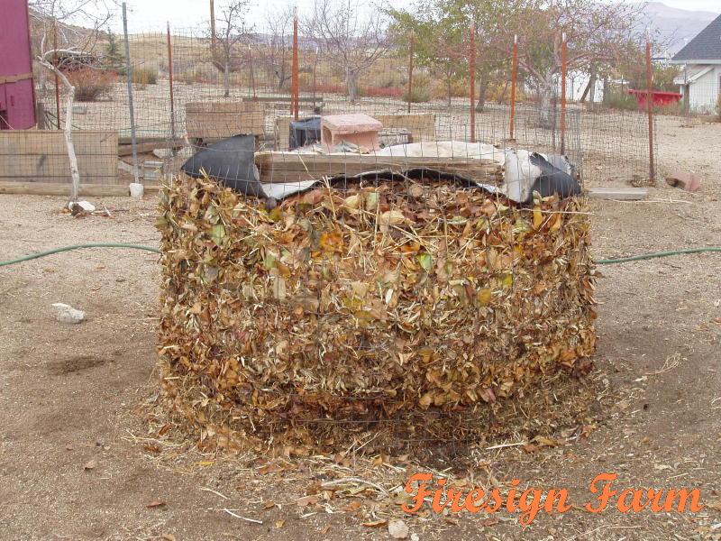Mixing Garden Bed Compost