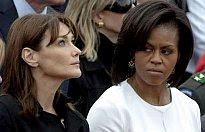 Carla Bruni and Michelle Obama