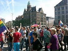 Amsterdam — gay demo #2