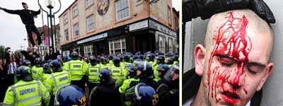 EDL demo, Leicester