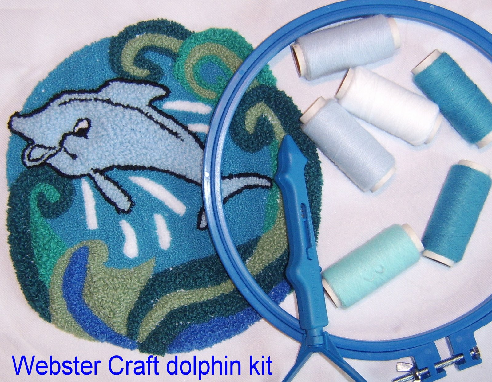 Rug Making Craft Kit Small Dolphin