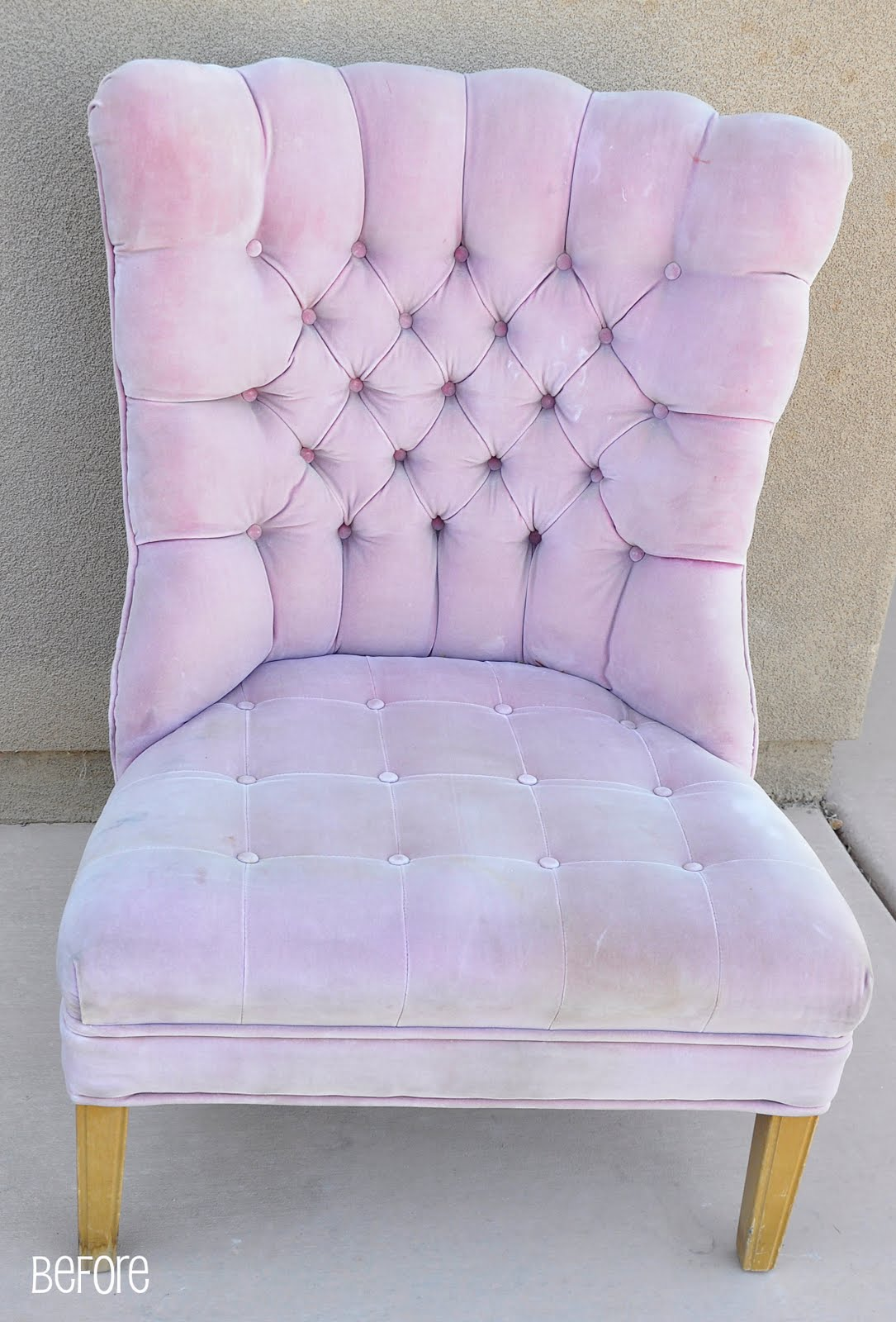 Reupholstering of pink chair complete!