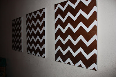 Cheap DIY Chevron Art