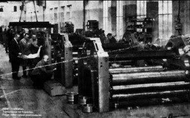 Tryckpress i Trollhättan på 1930-talet