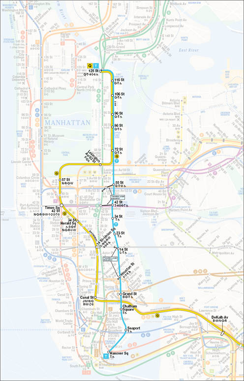 B Line Subway Map.Mania Society Modern History Of The New York City Subway Expansion