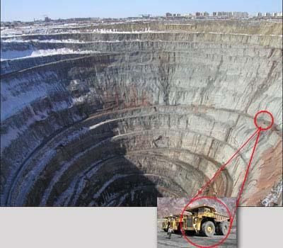 Worlds Biggest Holes On Pinterest Diamond Mines Blue
