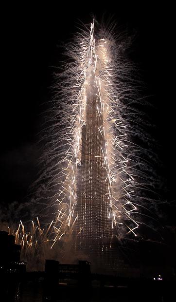 A inauguração do Burj Dubai