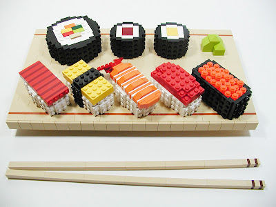Lego Sushi Sculptures ~ Damn Cool Pictures