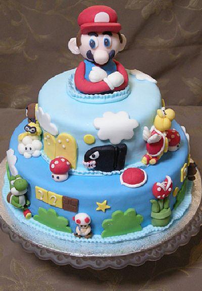 Mario Brothers Birthday Cake Decorations