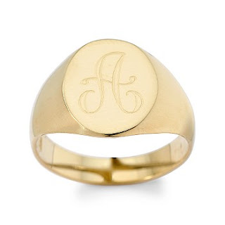 Jewelry Men S 14kt Yellow Gold Oval Signet Ring With Monogram