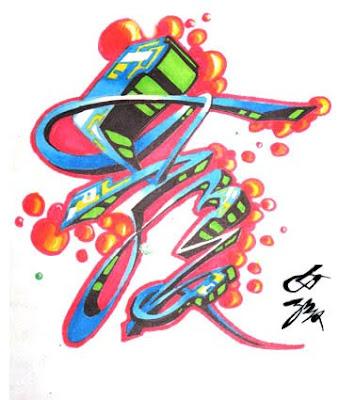 chinese type, letter, alphabet, graffiti