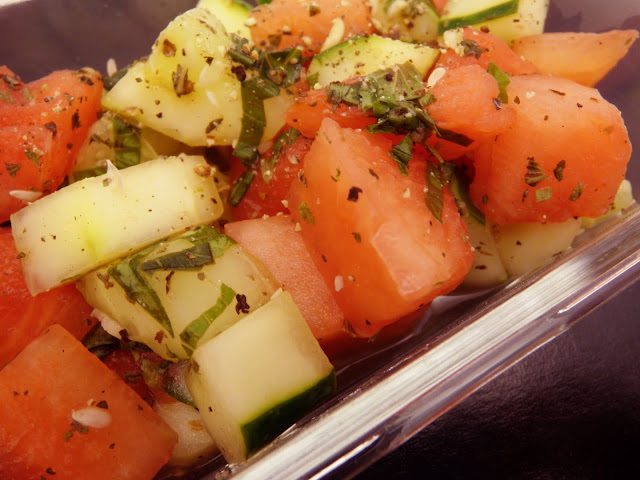 Watermelon Cucumber Salad Recipe - Scrumptiously Fit Food