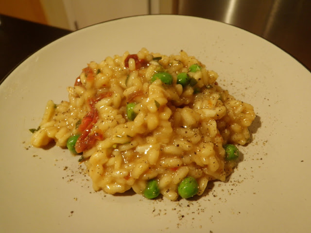 Peas and Carrots Risotto