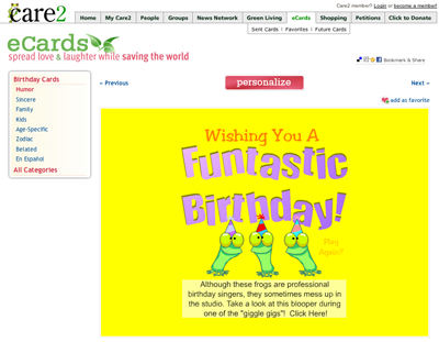 Click On The Little Thumbnail Image For Ecard You Want To See This Will Take Cards Preview Page Which Looks Like