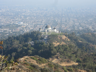 View south from Mt. Hollywood toward Griffith Observatory