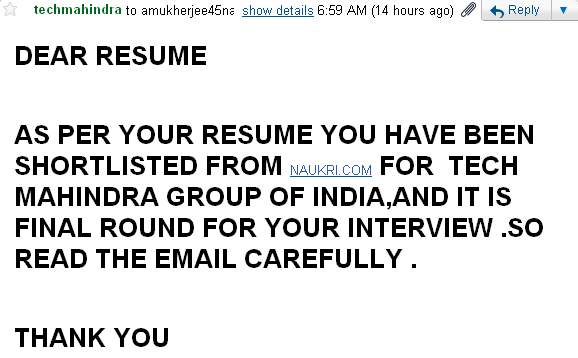 Fundoo Recruiter: Fake Interview Call in the Name of Tech