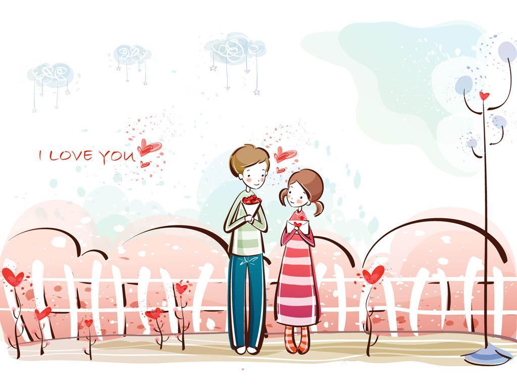 Animasi Kartun Couple Romantis Kolek Gambar