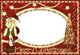 free printable christmas photo frame crafts - Free Christmas Photo Frames