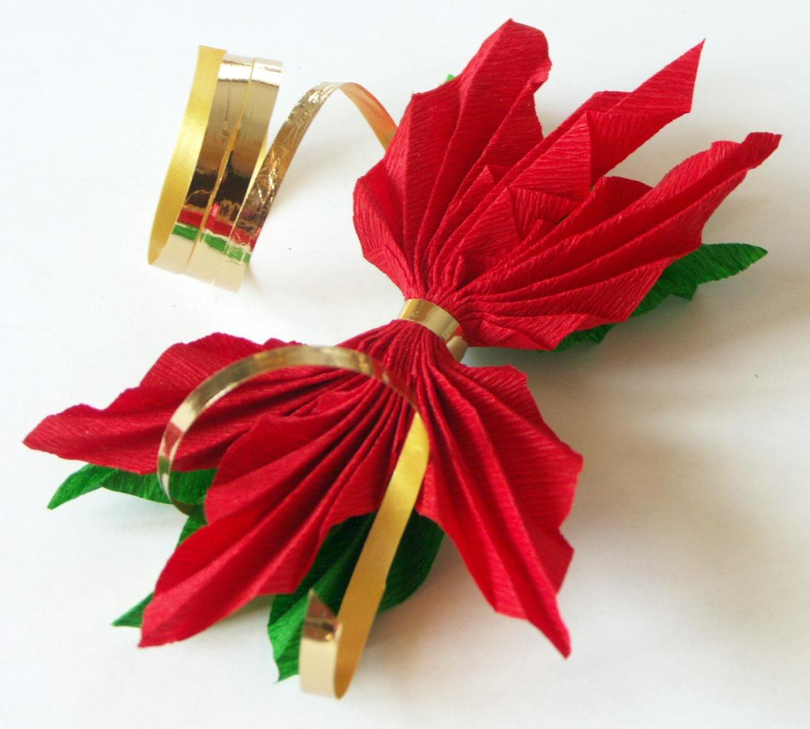 Conosciuto Tatamusetta: tutorial decorazione con stella di natale in carta crespa RB59