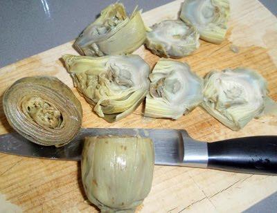 alcachofas cocidas