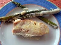 salmón con mayonesa al horno