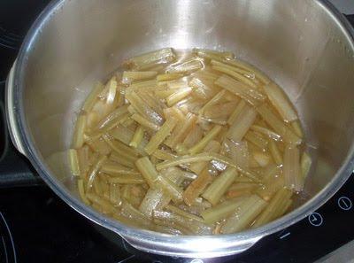 cocción de las borrajas
