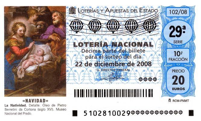 Décimo lotería Navidad