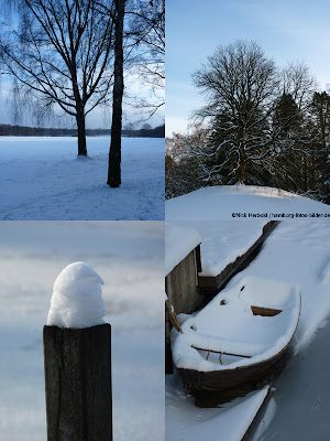 Winter in Hamburg, Fotocollage, Kollage
