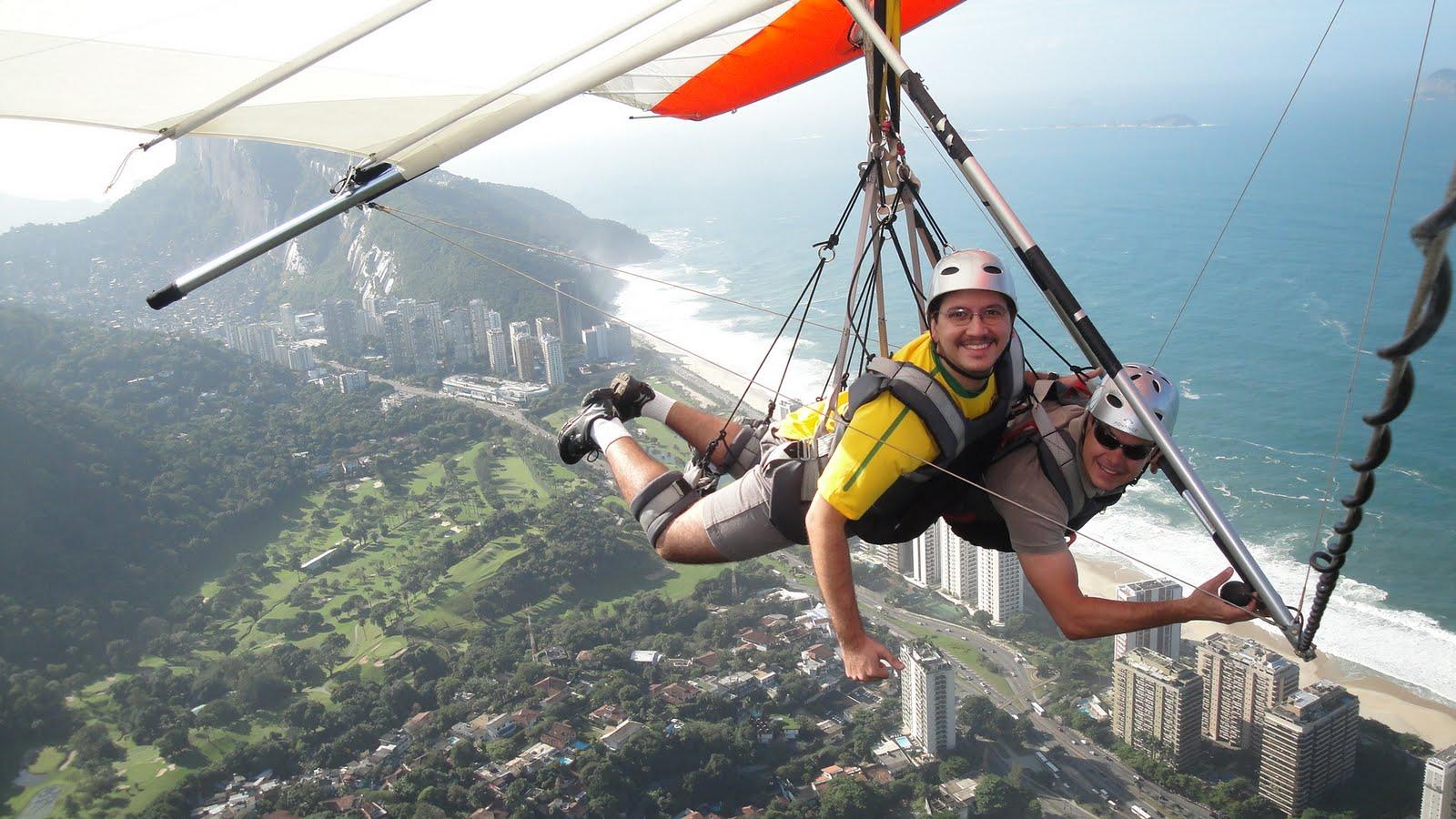 Vídeo do meu vôo de Asa Delta no Rio de Janeiro. - YouTube