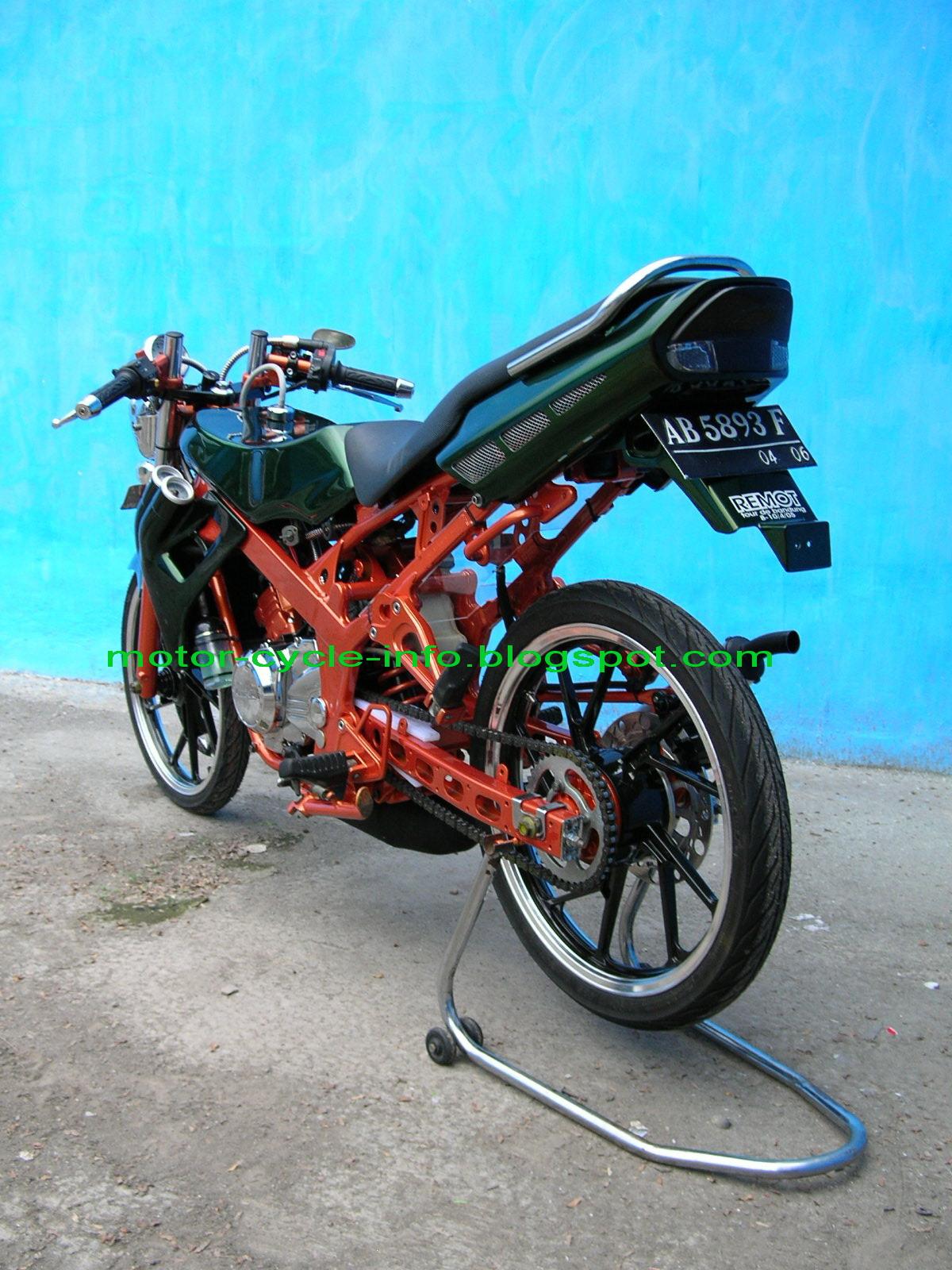 Gambar Motor Ninja RR Modifikasi Street Racing karya sendiri