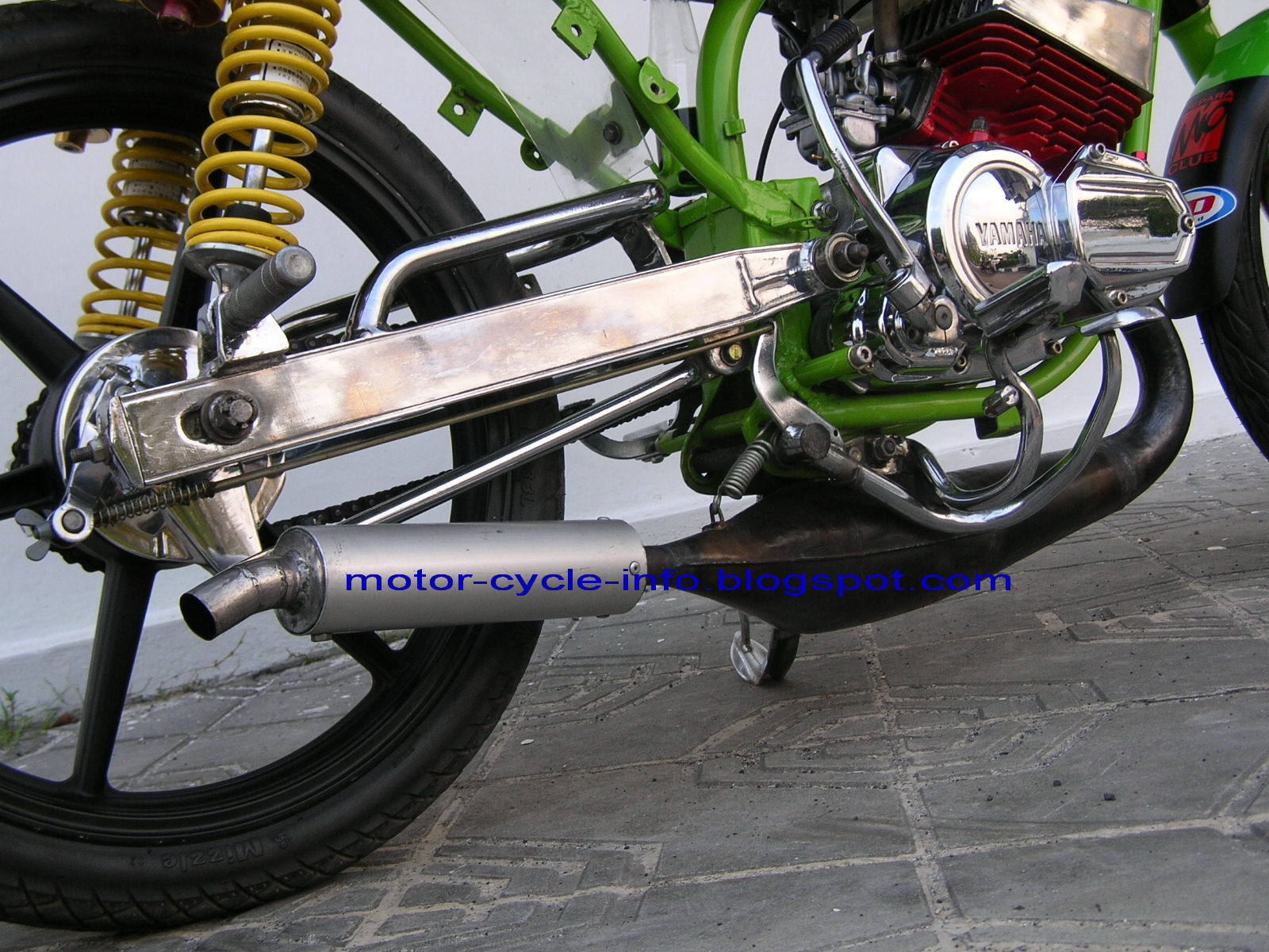 This Motor Cycle More Attractive Ready For A Contest Motor Event