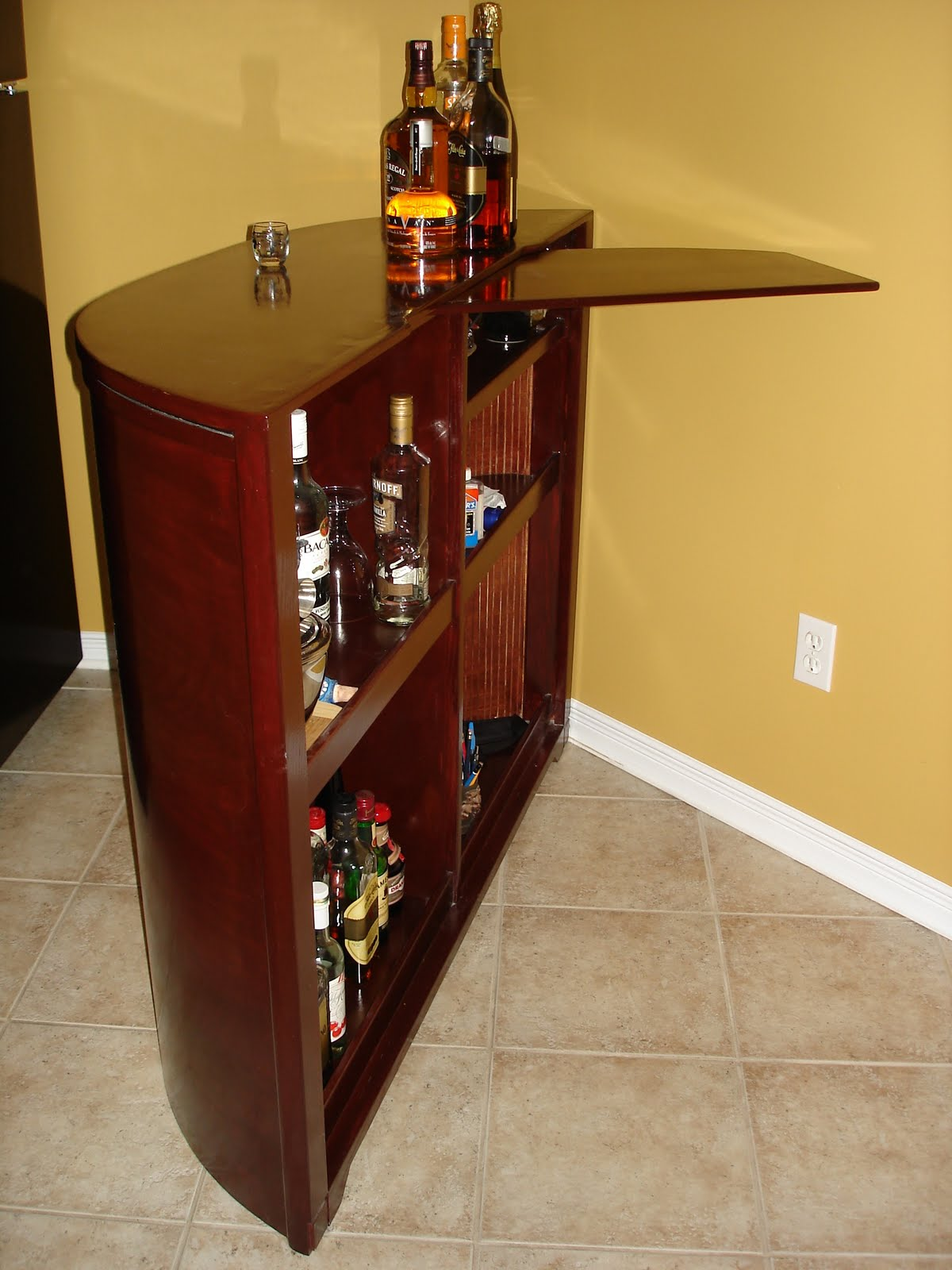 Wall Mounted Storage Custom Made Furniture: Wall Mounted Unit And Mobile Bar