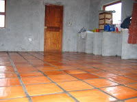 Heavy Clay Tiles 256 Kms All The Way From Cape Town I Bowed To Rman S Preference For Floor In Place Of Oxide Screed On