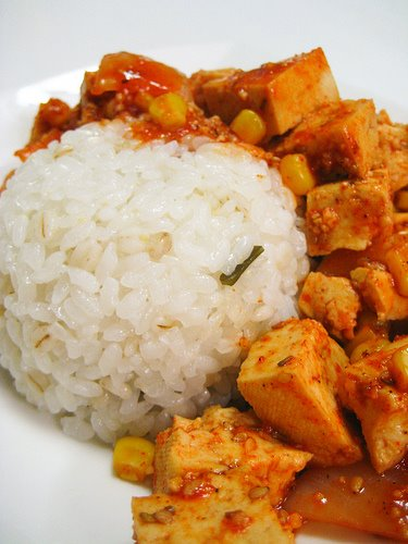 Tofu with Rice & Side dishes
