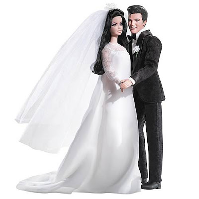 The Ken Barbie Dolls Are Wearing Replicas Of Outfits That King And His Princess Wore On Their Wedding Day In Las Vegas 1967