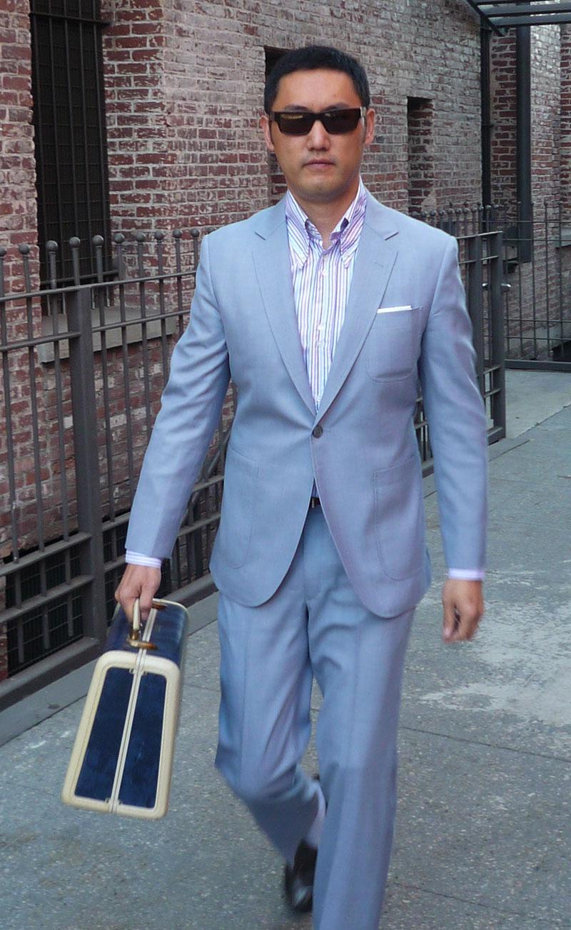 Powder Blue Suit Mens Dress Yy