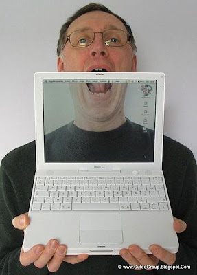 Transparent screen ibook g4